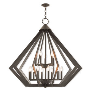 Prism Bronze 42-Inch Fifteen-Light Foyer Chandelier