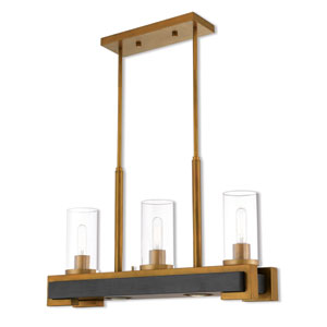 Buttonwood Aged Gold  Five-Light Linear Pendant
