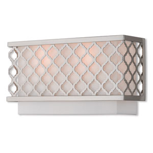 Arabesque Brushed Nickel 13-Inch Two-Light Wall Sconce