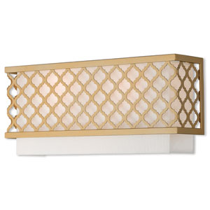 Arabesque Soft Gold 16-Inch Two-Light Wall Sconce