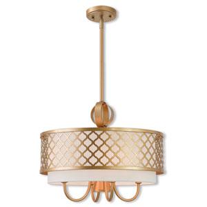 Arabesque Soft Gold 18-Inch Five-Light Pendant