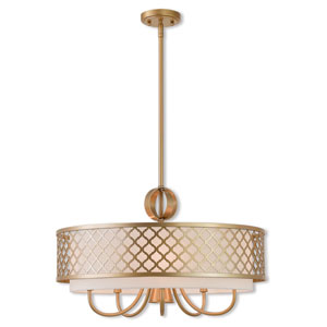 Arabesque Soft Gold 24-Inch Six-Light Pendant