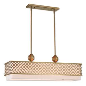 Arabesque Soft Gold -Inch Nine-Light Linear Pendant