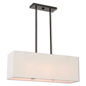 Summit English Bronze Three-Light Linear Pendant