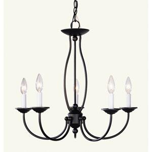 Home Basics II Five-Light Bronze Chandelier