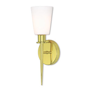 Witten Polished Brass 13-Inch One-Light Wall Sconce