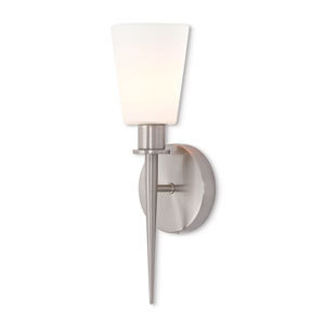 Witten Brushed Nickel 15-Inch One-Light Wall Sconce