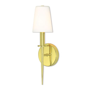 Witten Polished Brass 15-Inch One-Light Wall Sconce