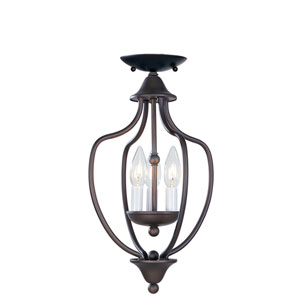 Home Basics II Bronze Convertible Ceiling Light