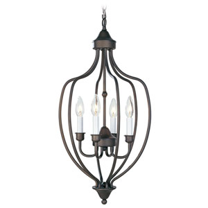 Home Basics II Bronze Foyer Lantern