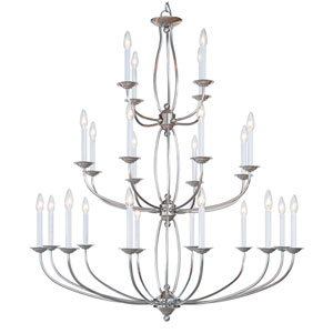 Home Basics II Nickel Three-Tier Chandelier