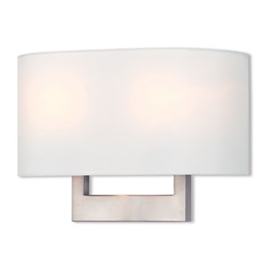 Hayworth Brushed Nickel 14-Inch Two-Light Wall Sconce