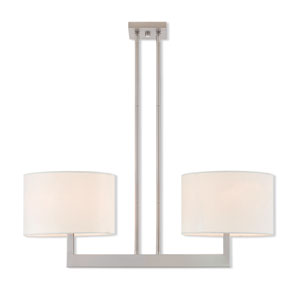 Hayworth Brushed Nickel 11-Inch Two-Light Linear Pendant
