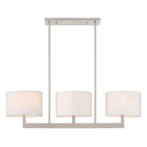 Hayworth Brushed Nickel 11-Inch Three-Light Linear Pendant