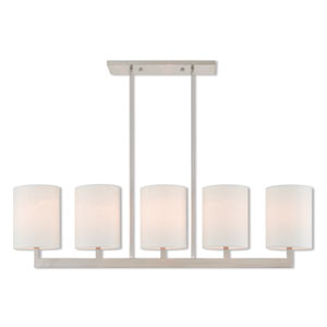 Hayworth Brushed Nickel 8-Inch Five-Light Linear Pendant