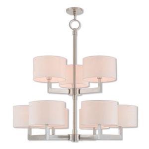 Hayworth Brushed Nickel 42-Inch Nine-Light Foyer Chandelier