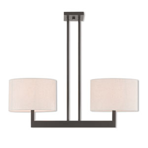 Hayworth Bronze 11-Inch Two-Light Linear Pendant