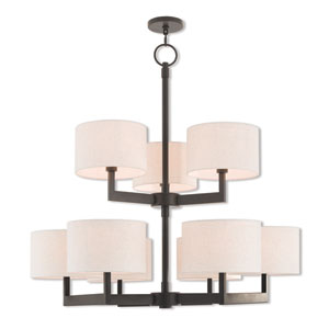 Hayworth Bronze 42-Inch Nine-Light Foyer Chandelier