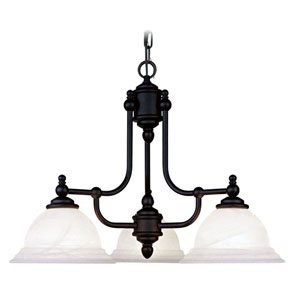 North Port Three-Light Black Chandelier
