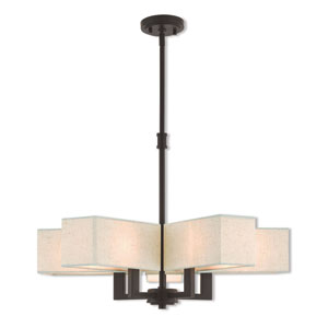 Rubix Bronze 26-Inch Five-Light Chandelier