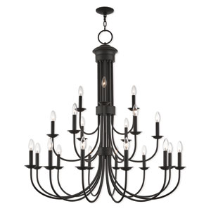 Estate Bronze 42-Inch Twenty-One Light Foyer Chandelier