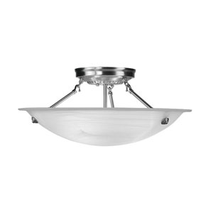 Brushed Nickel Large Semi-Flush Ceiling Light