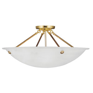 Home Basics Polished Brass Four-Light Semi Flush Mount