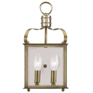 Garfield Antique Brass 7-Inch Two-Light Bath Sconce
