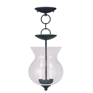 Legacy Black Two-Light Ceiling Mount