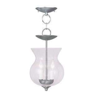 Legacy Brushed Nickel Two-Light Ceiling Mount