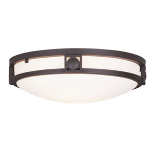 Matrix Bronze Two-Light Semi Flush Mount