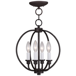 Milania Bronze Four Light Convertible Flush Mount