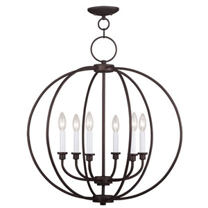 Milania Bronze Six Light Chandelier