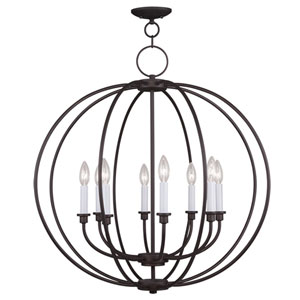 Milania Bronze Eight Light Chandelier