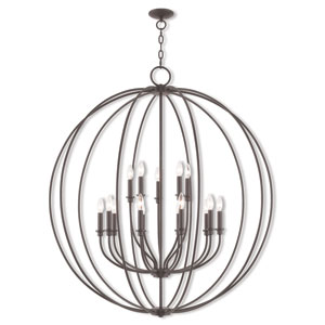 Milania Bronze 15-Light 42-Inch Foyer Chandelier
