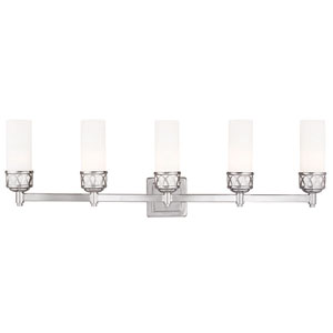 Westfield Chrome 34-Inch Five-Light Bath Light