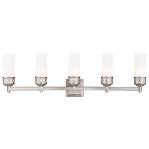 Westfield Brushed Nickel 34-Inch Five-Light Bath Light