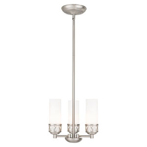 Westfield Brushed Nickel 12-Inch Three-Light Chandelier