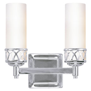 Westfield Chrome Two-Light Bath Light