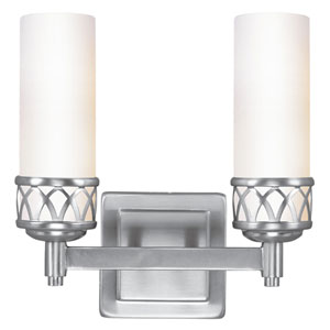 Westfield Brushed Nickel Two-Light Bath Light