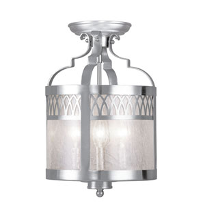 Westfield Brushed Nickel Three-Light Convertible Semi-Flush