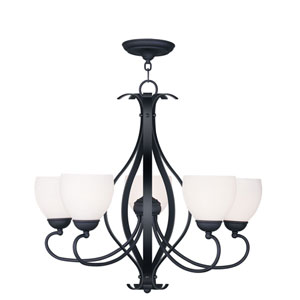 Brookside Black Five Light Chandelier