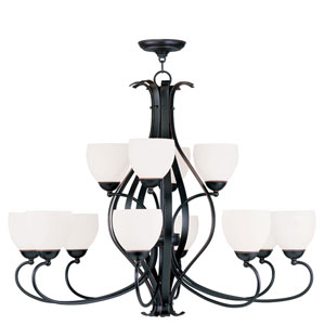 Brookside Olde Bronze Twelve-Light Chandelier