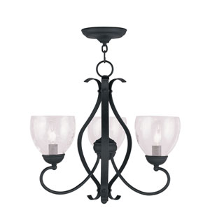 Brookside Black Three-Light Chandelier