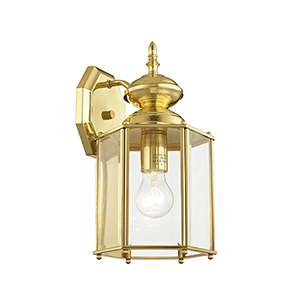 Outdoor Basics Polished Brass Outdoor Wall Lantern