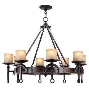 Cape May Olde Bronze 35-Inch Eight-Light Chandelier