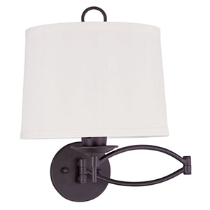 Bronze One Light 15.25-Inch Swing Arm Wall Lamp