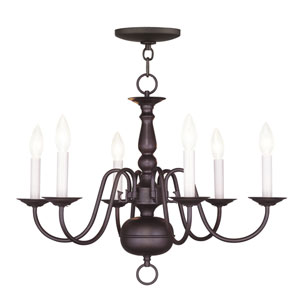 Williamsburgh Bronze Six-Light Chandelier