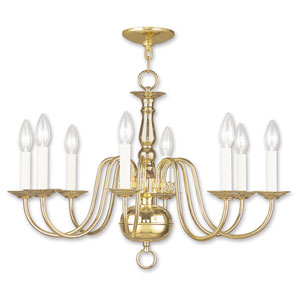 Williamsburgh Eight-Light Polished Brass Chandelier