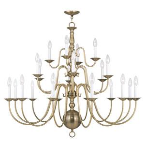 Williamsburgh Antique Brass 22 Light Chandelier